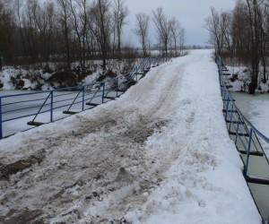 Мост через р. Любич в Леточках зимой