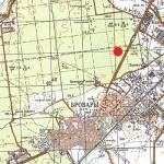 Карта. Точка – места сбора опят