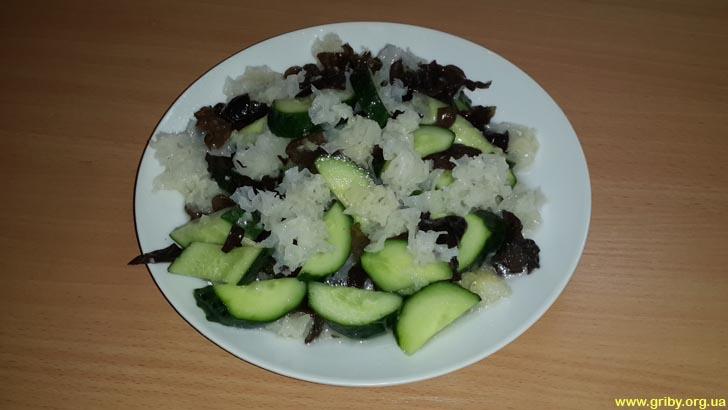 Китайский салат из грибов